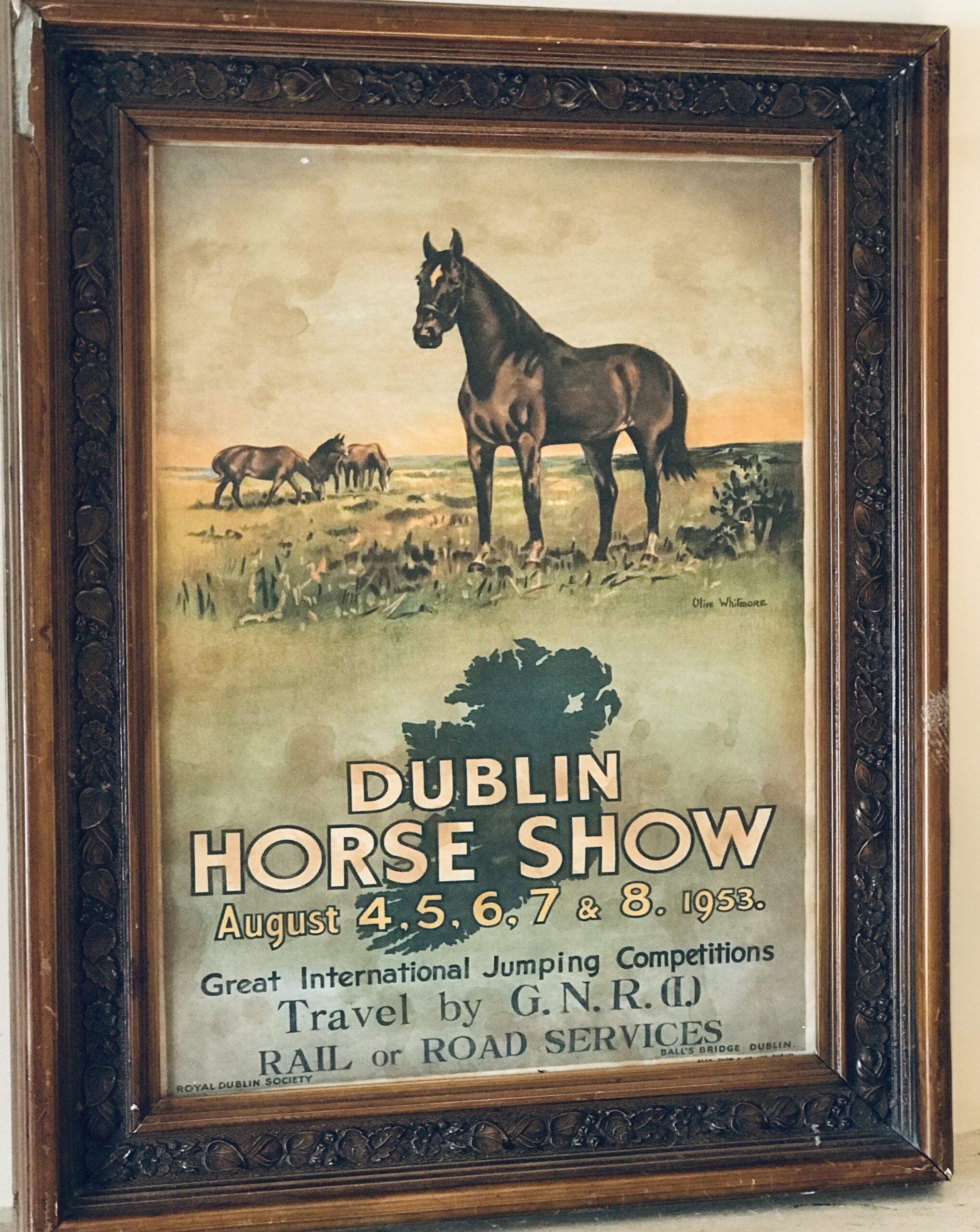 1953 RDS Dublin Horse Show Advertising Poster | The Irish ...